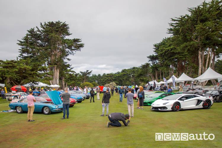 concorso italiano 2019 esposizione supercar italiane a Monterey, USA