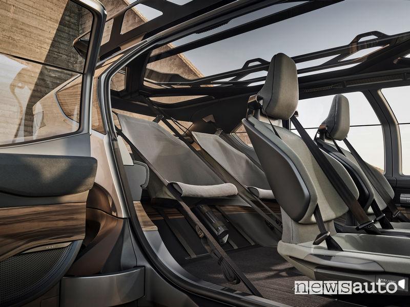 Sedili posteriori ad amaca Audi AI:TRAIL concept