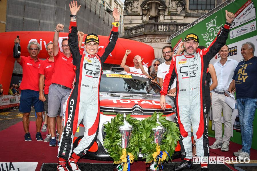 CIR Rally del Friuli 2019 vittoria Citroën Rossetti/Mori