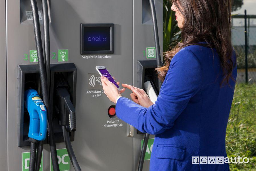 Ricarica auto elettriche tramite app JuicePass