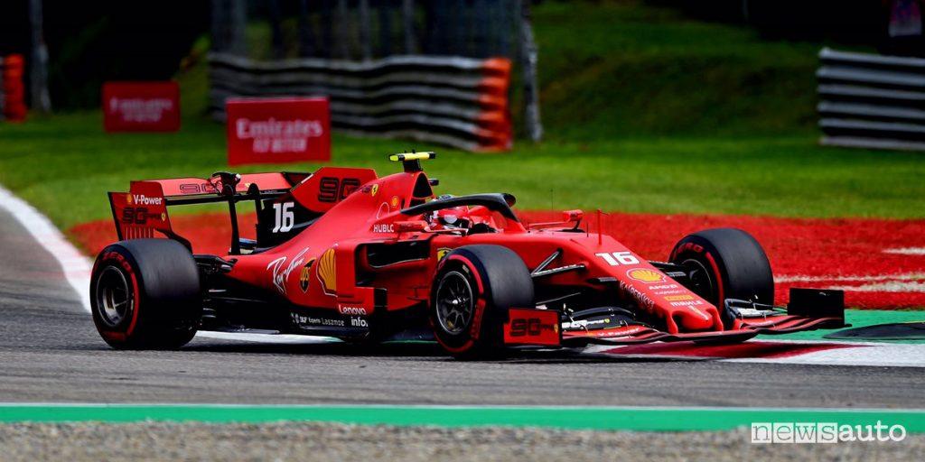 Monza Charles Leclerc Ferrari pole position