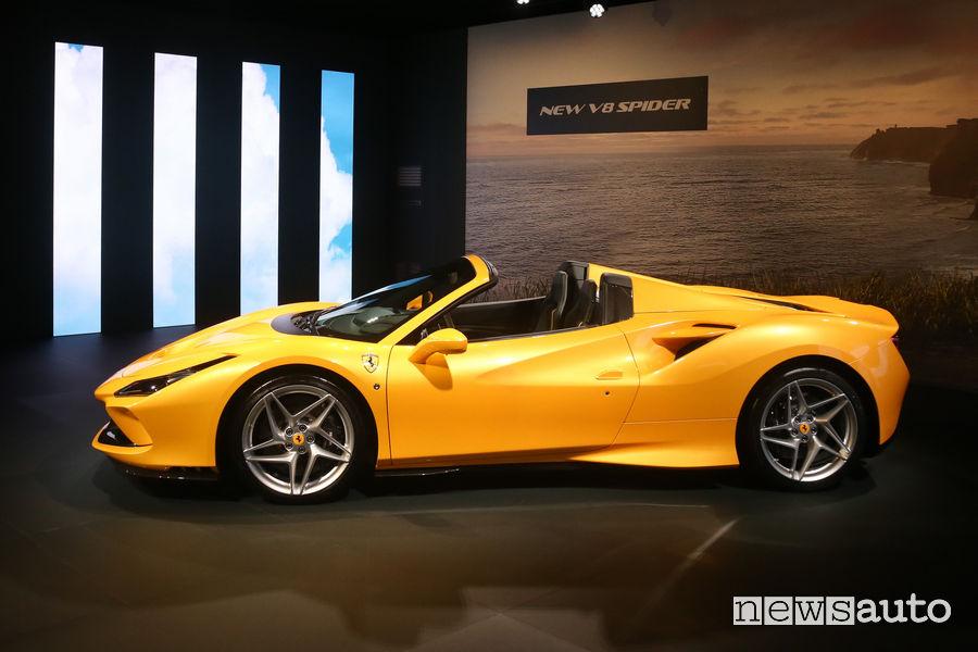 Fiancata laterale lato guidatore Ferrari F8 Spider