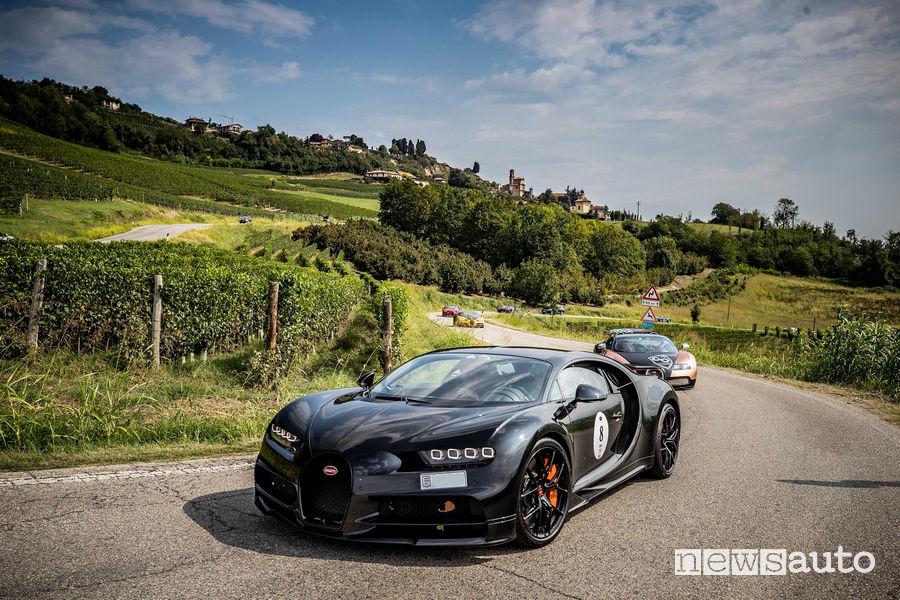 Carovana Bugatti partecipanti al Gran Tour per i 110 anni