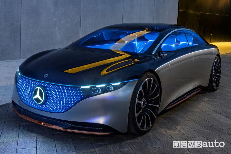 Vista di profilo, luci abitacolo Mercedes-Benz VISION EQS