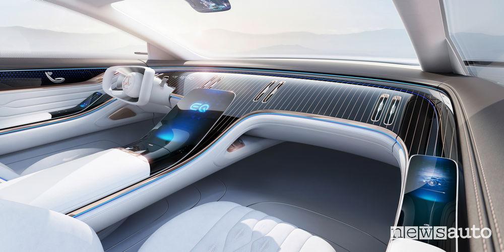 Plancia strumenti, volante Mercedes-Benz VISION EQS