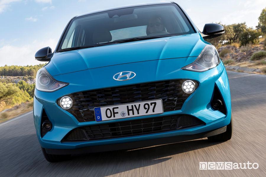 Nuova Hyundai i10 mascherina frontale