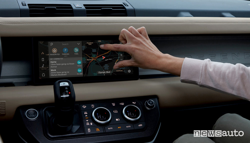 Touch screen navigatore nuovo Land Rover Defender 2020