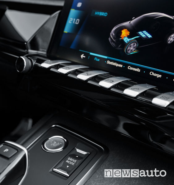 modalità di guida Peugeot 508 Hybird plug-in: Zero emissioni, Sport e Hybrid