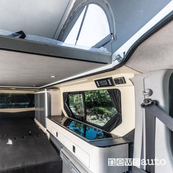 Abitacolo, zona living camper Peugeot Expert Klubber