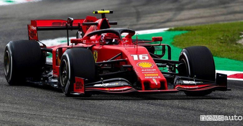 F1 Gp Italia 2019 gara Ferrari Leclerc