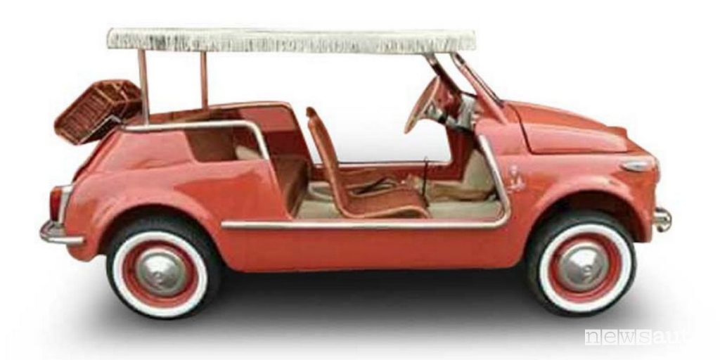 """Fiat 500 Spiaggina convertita elettrica con operazione """"retrofit"""""""