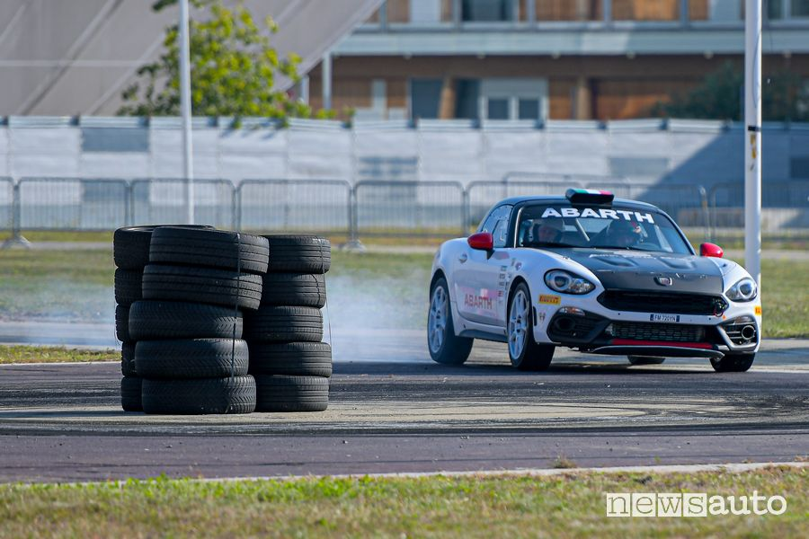 Abarth 124 rally all'Abarth Day 2019 al MIND di Milano