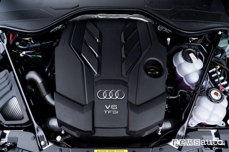 Vano motore V6 3.0 Audi A8 L 60 TFSI e ibrida plug-in