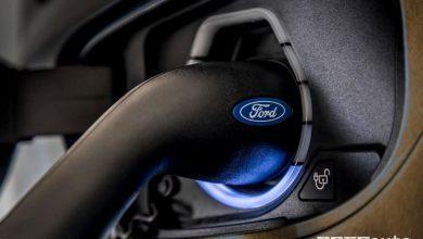 Presa di ricarica Ford Transit Custom PHEV ibrido plug-in