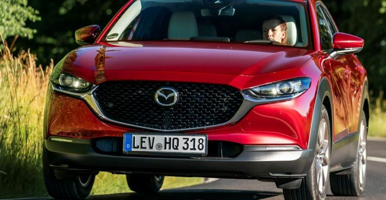 Frontale, mascherina anteriore Mazda CX-30 Soul Red Crystal