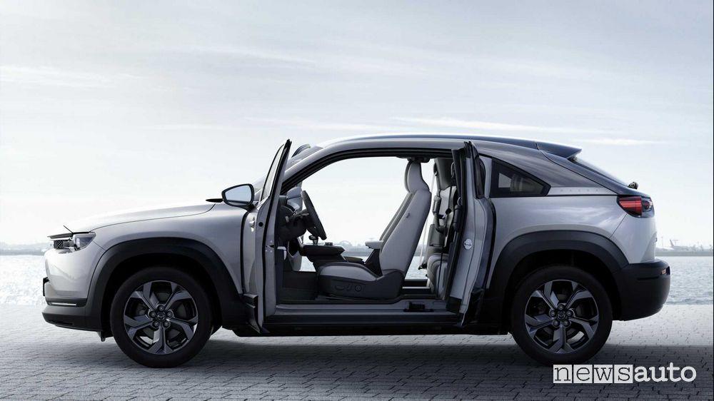 Portiere controvento Mazda MX-30 elettrica