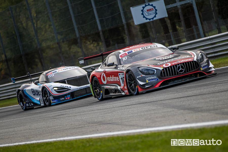 Mercedes AMG GT3 Ramos/Crestani vincitori Gara 1 International GT Open Monza 2019