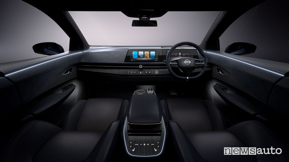 Plancia strumenti, abitacolo concept Nissan Ariya