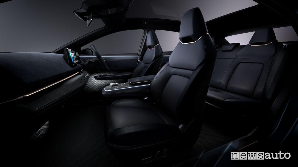 Sedili, abitacolo concept Nissan Ariya