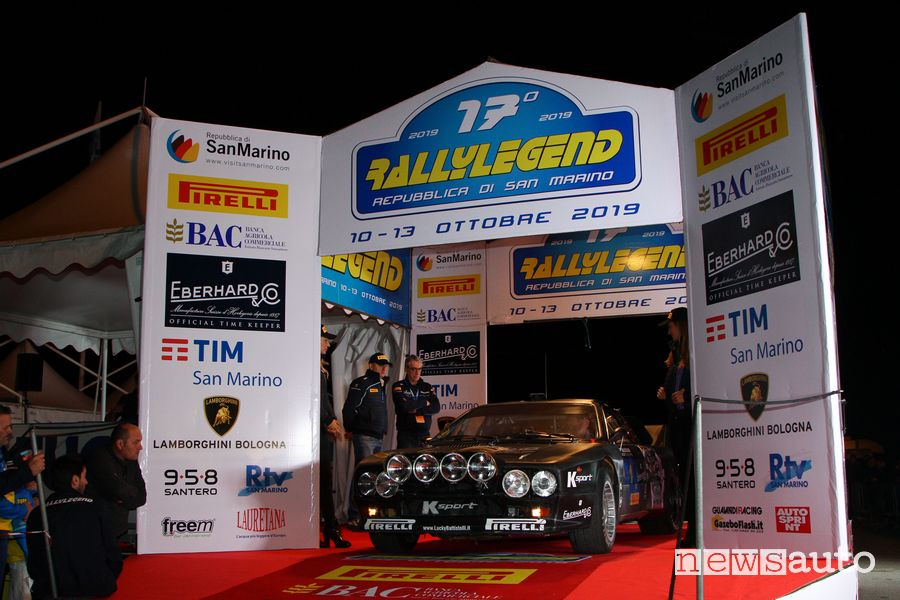 Lancia 037 di Miki Biasion partenza Rallylegend 2019