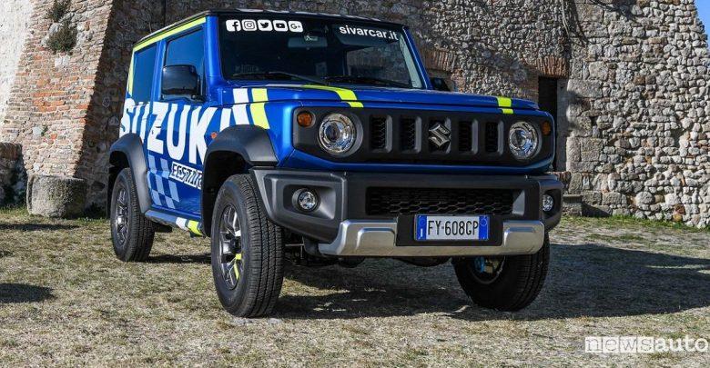Suzuki Jimny livrea MotoGp al 4x4 Fest di Carrara 2019