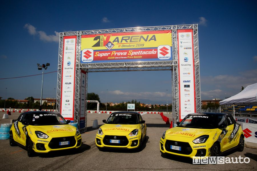 Suzuki Swift Sport auto ufficiale Rally Italia Talent al Rally Due Valli 2019