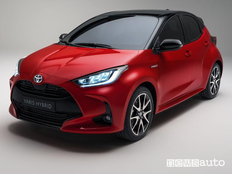 Nuovo frontale più ampio Toyota Yaris 2020