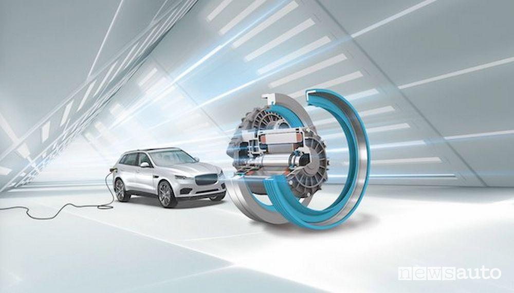 Decellerazione e frenata sulle auto elettriche vengono assicurata dallo stesso motore che si trasforma in generatore e permette di risparmiare l'uso dei freni