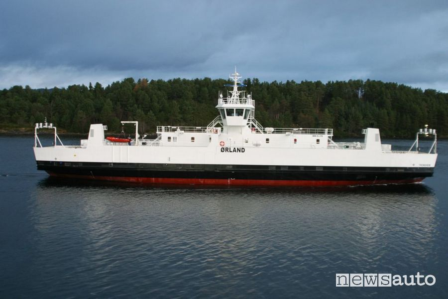 Il traghetto elettrico fa parte della flotta Norled