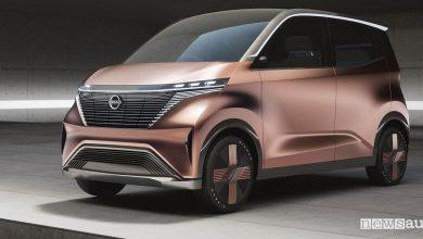 City car elettrica Nissan concept IMk