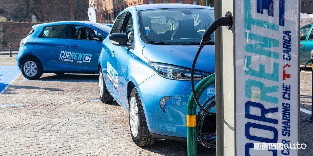 Noleggio auto elettriche a Bologna Corrente Renault Zoe