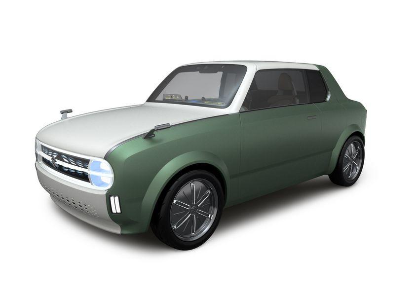 Vista di profilo Suzuki Waku Spo ibrido plug-in