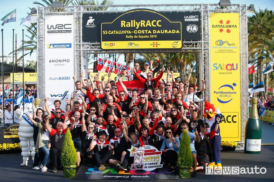 Ott Tanak Campione del Mondo WRC 2019