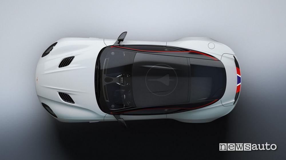 Tetto in carbonio sulla Aston Martin  DBS Superleggera Concorde