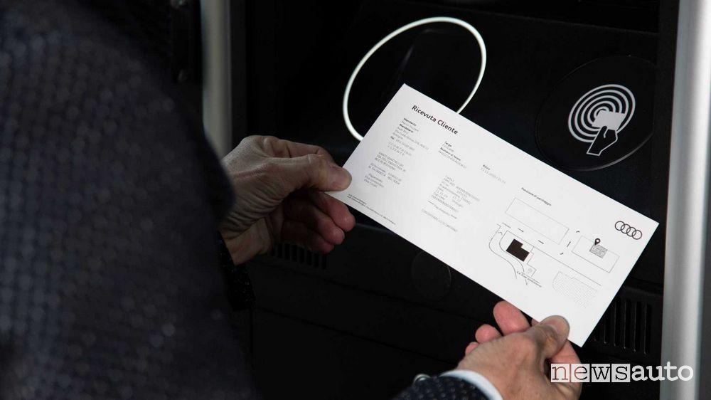 Ricevuta service/manutenzione Audi all'aeroporto di Bologna