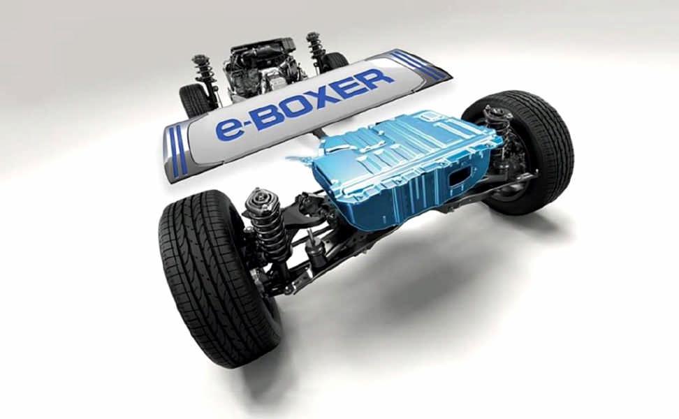 Pacco batteria agli ioni di litio da 13,5 kW posizionato nella parte posteriore del Forester
