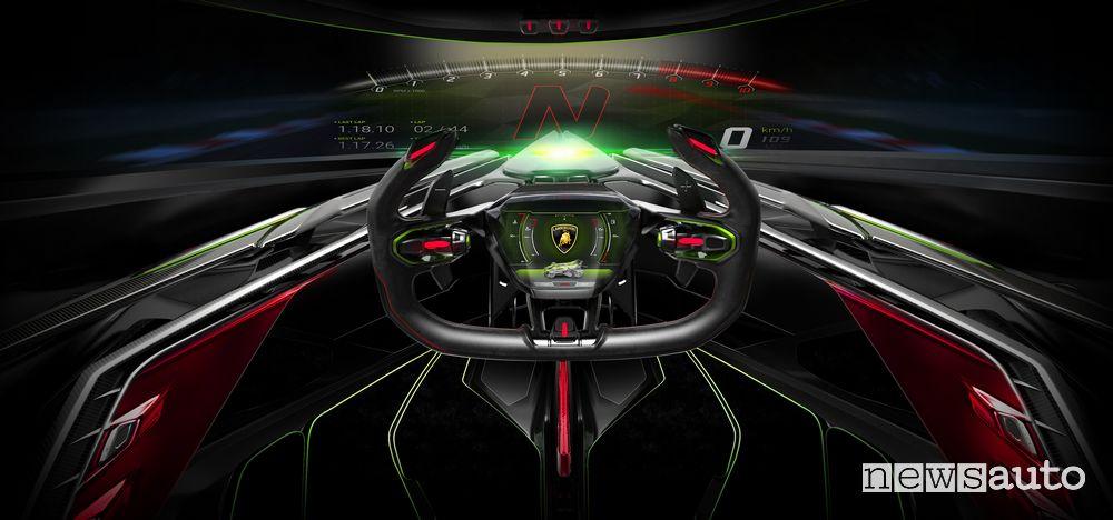 Volante, abitacolo Lamborghini Lambo V12 Vision Gran Turismo