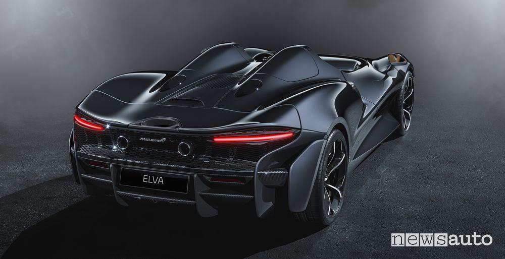 Scarico, fari posteriori McLaren Elva