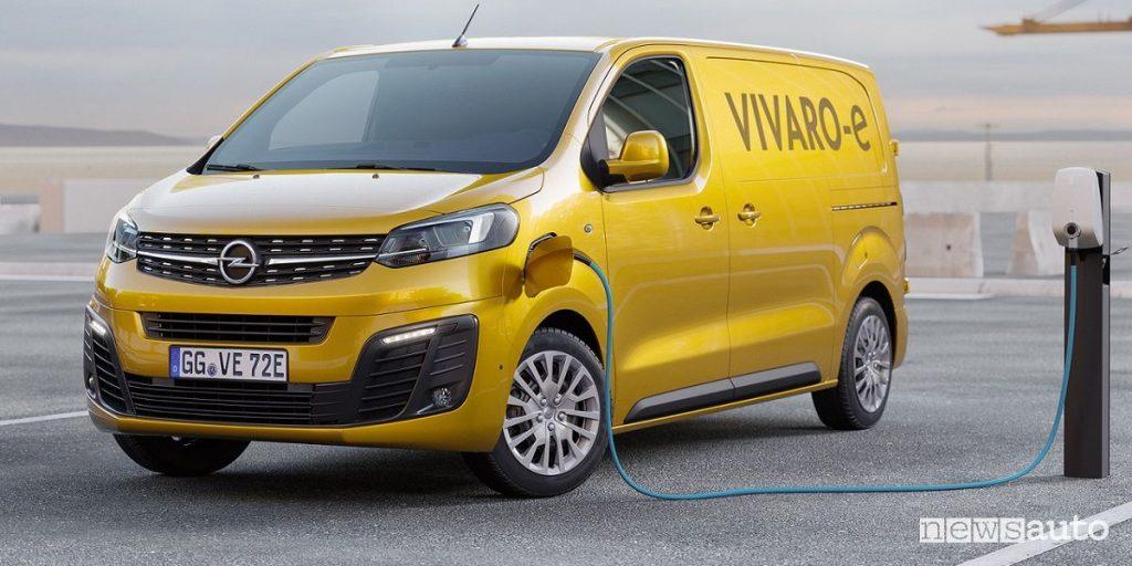 Furgone elettrico Opel Vivaro elettrico