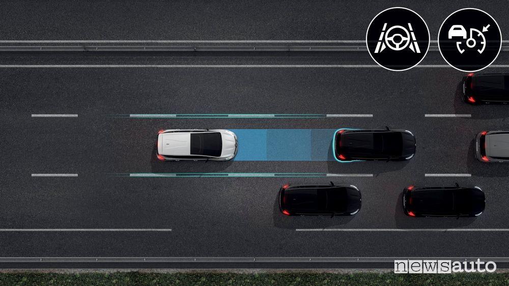 Mantenimento corsia guida autonoma livello 2 Renault Espace 2020