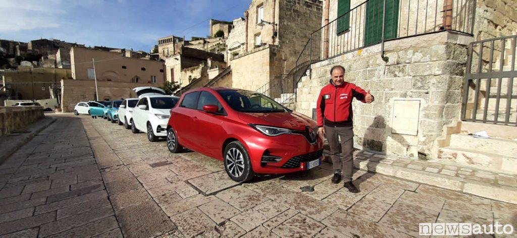 Prova Renault Zoe 2020 R135 colore Rosso Passion. Giovanni Mancini da Matera