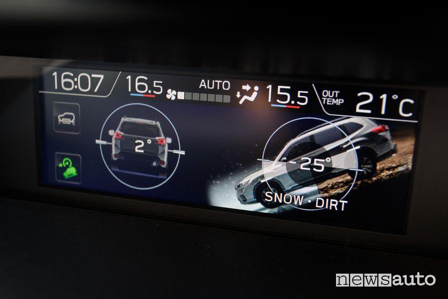 Schermata off road Subaru Forester e-Boxer