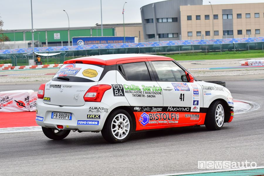 Nicola Schileo al volante della Suzuki Swift R1 all'Adria Motor Week 2019