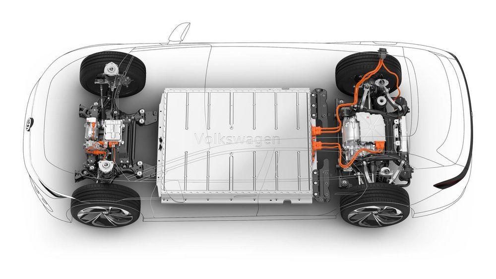 Batteria, doppio motore elettrico Volkswagen ID. Space Vizzion