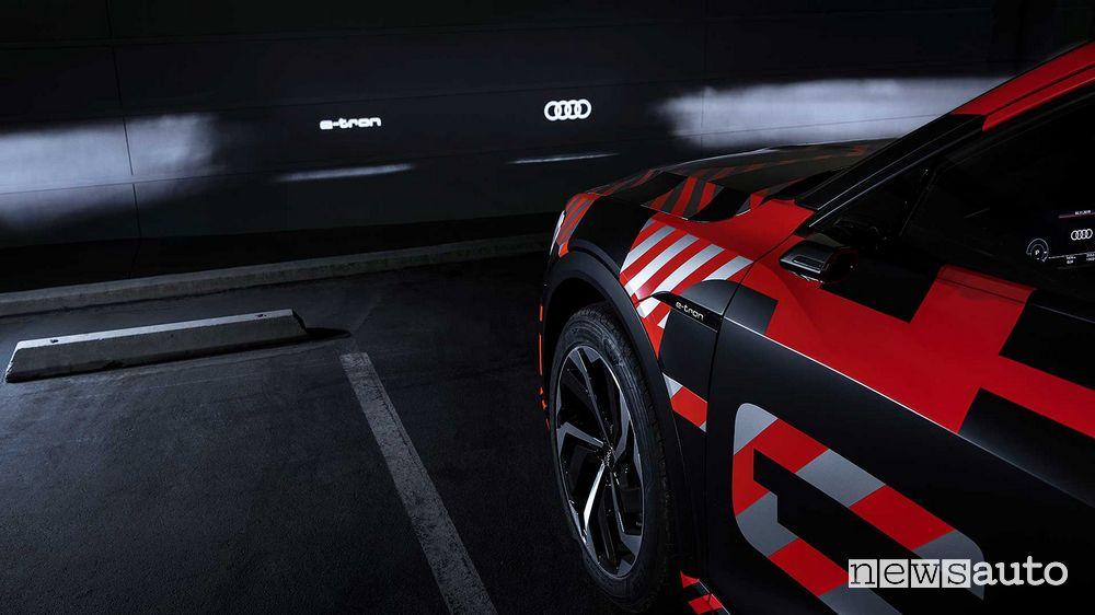 Proiettori a LED Digital Matrix Audi e-tron Sportback