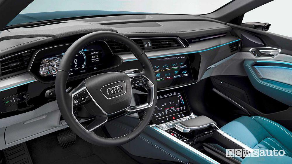 Volante, interni Audi e-tron Sportback