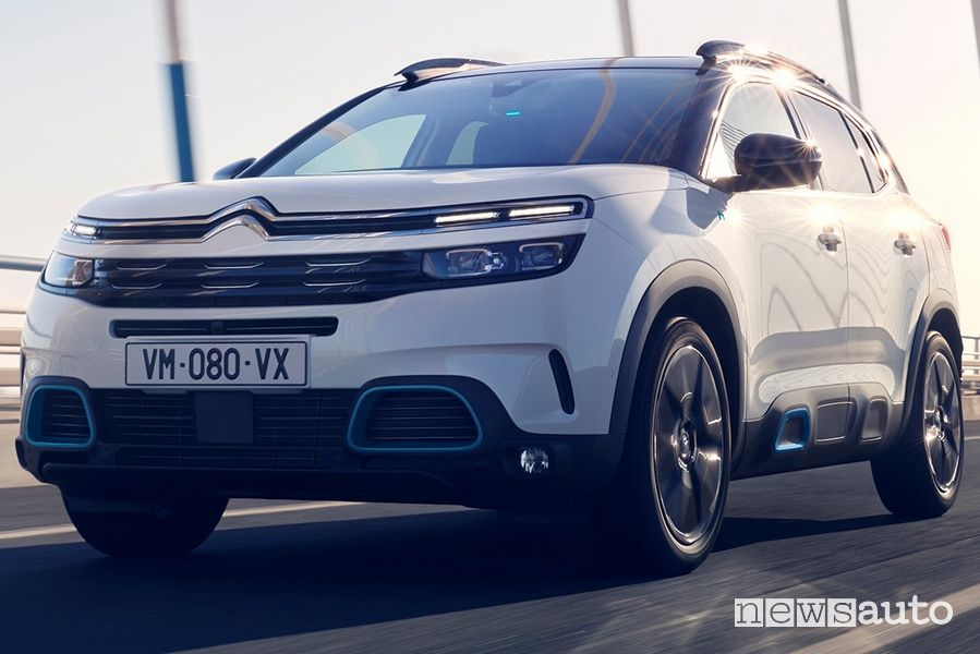 Paraurti e fari anteriori Citroën C5 Aircross Hybrid plug-in