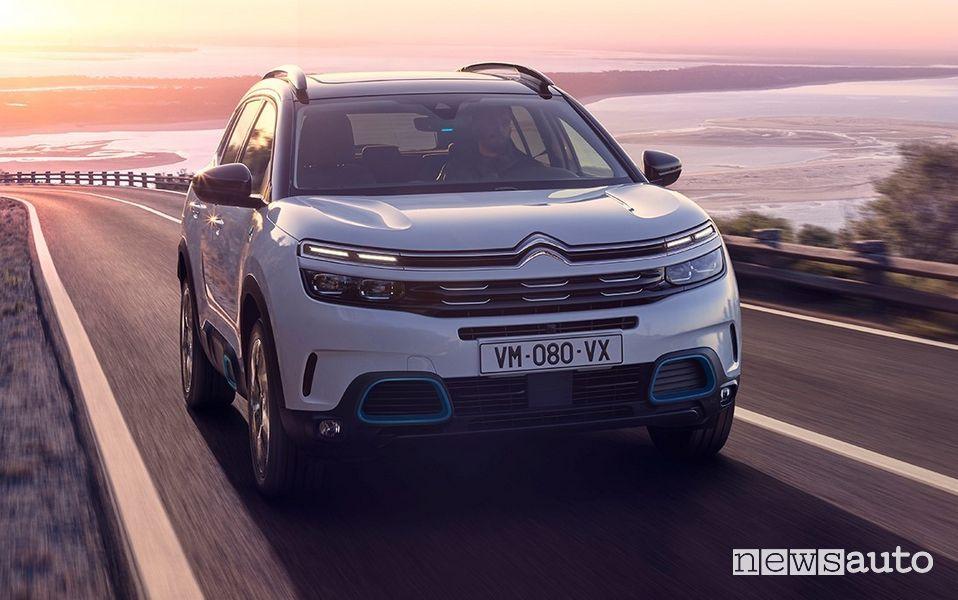 Frontale, inseriti specifici Citroën C5 Aircross Hybrid plug-in