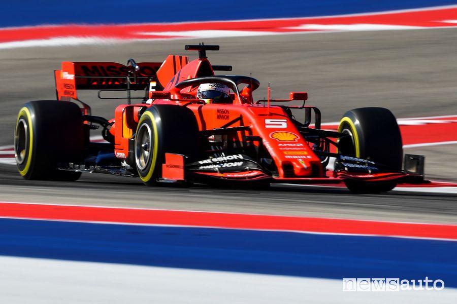 Ferrari Vettel qualifiche F1 Gp degli USA 2019