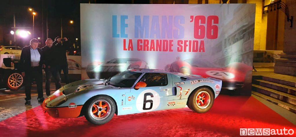 La Ford GT40 del film Le Mans 66 a Roma alla prima